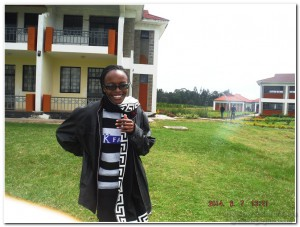 BSK Volunteer teacher Pauline from Kenyatta University Nairobi Kenya